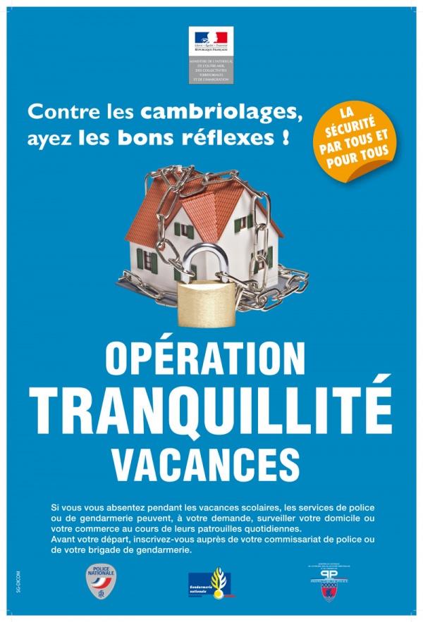 Application Stop Cambriolages et Opération Tranquillité Vacances